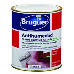 Pintura Sintetica Antihumedad Mate Blanco 750 Ml Bruguer