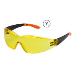 Gafa Proteccion Ocular Ambar Policarbonato Patill Flex 503a