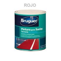 Pintura Suelos Porosos Interior/exterior Terrena Rojo 750 Ml