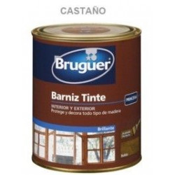 Barniz Tinte Sintetico Brillante Castaño 750ml