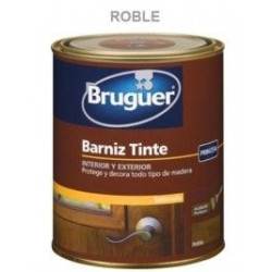 Barniz Tinte Sintetico Satinado Roble 250ml