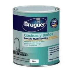 Esmalte Acrilico Satinado Cocina/baño Blanco 750 Ml