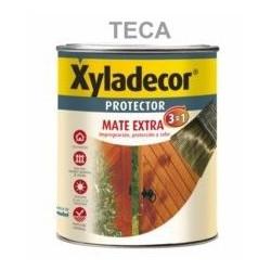 Protector Para Madera Mate 3 En 1 Teca 750 Ml Xyladecor