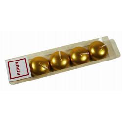 Vela Flotante Metalizadas Oro Pequeña Estuche 5ud. 323260