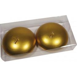Vela Flotante Metalizadas Oro Grande Estuche 2ud. 323270