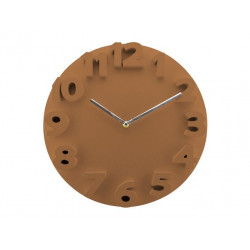 Reloj Plastico Relieve Marron 9100232 Dekora Import