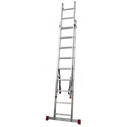 Escalera Industrial Aluminio 2x10 Peldaños 2x3,0 Mts Convert