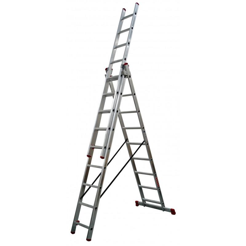 Escalera industrial aluminio 3x10 pelda os 3x3 mts convert for Escalera aluminio 2 peldanos