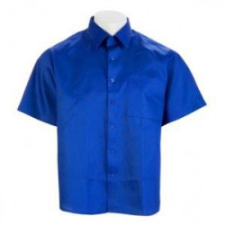 Camisa Tergal Manga Corta Azulina 2 Bolsillos Talla 48 Vesin
