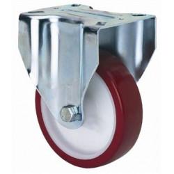 Rueda Fija 080mm 2-2360 Pl.107x086 100kg Pu B/r Zv Pol Alex