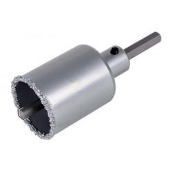 Corona Perforadora Metal Duro P/pared 53mm+adaptador+broca