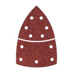 Hoja Lija Esmeril Adhesiva Triangular 95mm+base Gran 80 10pz
