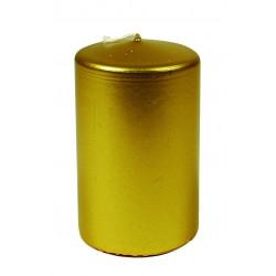 Vela Taco Cilindrico Metalizado De 100x60 Mm.323155