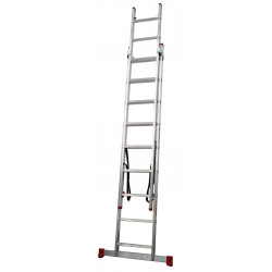 Escalera Industrial Aluminio 2x9 Peldaños 2x2,50 Mts Convert