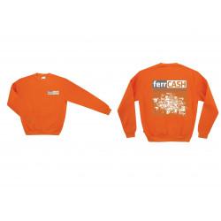 Sudadera 100% Algodon Naranja Ferrcash T-xl