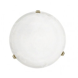 Plafon Cristal Alabastro Blanco-laton Salome 7185 Salome