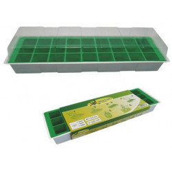 Semillero Plastico C/tapa+bandeja 27 Huecos 4x4 Cm