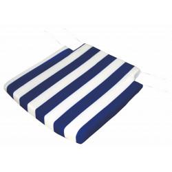 Cojin Para Silla Blaco/azul (2 Unds) 40x40x3cm