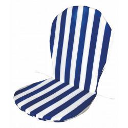 Cojin Monobloc Respaldo Bajo Blanco/azul 35x82x3
