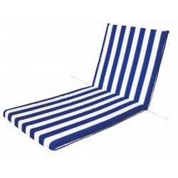 Cojin Tumbona Blanco/azul 120x50x5cm