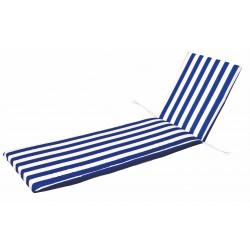 Cojin Cama Blanco/azul 180x50x5cm