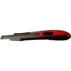 Cutter Seguridad Aluminio Engomado Cuchilla Sk-5  9mm Roher