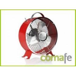 Ventilador Sobremesa Inox 25cm Rojo