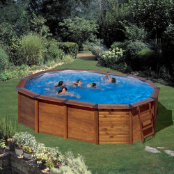 Piscina desmontable HAWAII 640 x 425 x 132 cm KITNPOV611