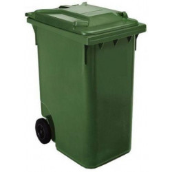 Contenedor Plastico Con Ruedas 360 Litros Verde 04011