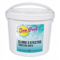 Cloro Pisc. 3 Acciones Sun Pool Tableta 200gr Su0905 5 Kg