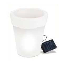 Maceta Led Solar Blanca