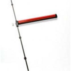 Barra Antipanico Push Sobreponer 2/3 Puntos 90cm Roja Quick