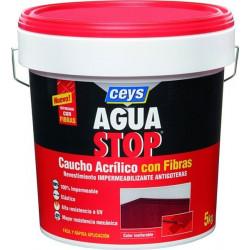 Impermeabilizante Caucho Acrilico C/fibras Gris 1kg Aguastop