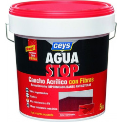Impermeabilizante Caucho Acrilico C/fibras Rojo 1kg Aguastop