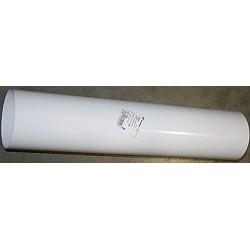 Tubo Aluminio Blanco 100mm.1mt