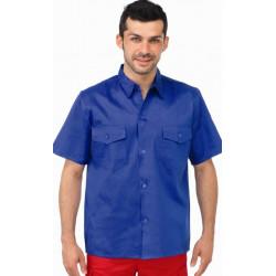 Camisa Tergal Manga Corta Azulina 2 Bolsillos Talla 40 Vesin
