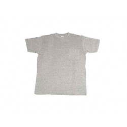 Camiseta Algodon Manga Corta 1bol Cuello Redon Gris T-m Juba