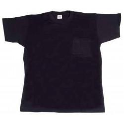 Camiseta Algodon Manga Corta 1bol Cuello Redon Marino T-xl