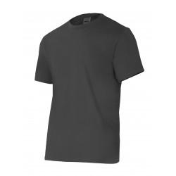 Camiseta Algodón Manga Corta Sin Bolsillo Gris T-l