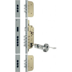 Cerradura Seg.3 Puntos Perfil U  45mm Entrada 50mm Laton