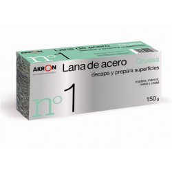 Lana Acero Pulir Gruesa 150 Gr Bobina Akron