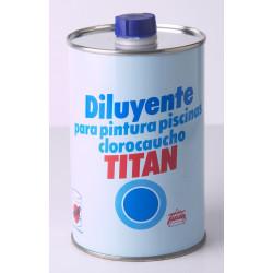 Diluyente Pintura Titan Piscinas Al Disolvente 1lt 083000101