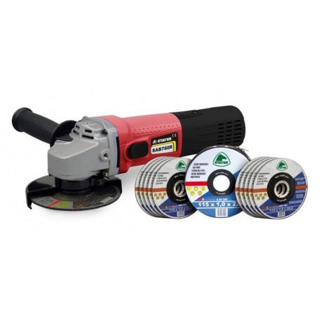Amoladora 115mm 780w Sab 780 R + 10 Discos Corte Inox Stayer
