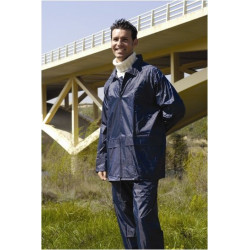 Traje De Agua Ingeniero Nylon-pvc Azul Marino 0,18mm 802 T-l