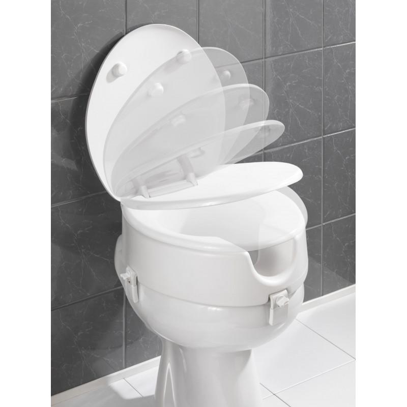 Comprar alzador inodoro con tapa wc secura 20063 en for Inodoro triturador opiniones