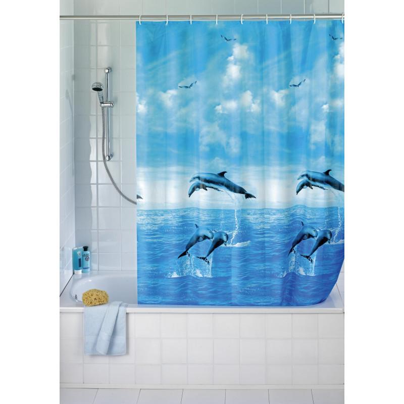 Comprar cortina ba o delfines 180x200 peva 19125 en for Cosas del bano con b