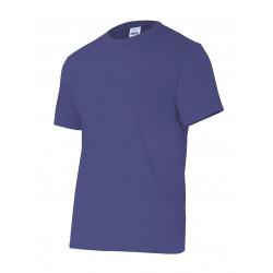 Camiseta Algodón Manga Corta Sin Bolsillo Azul Marino T-m