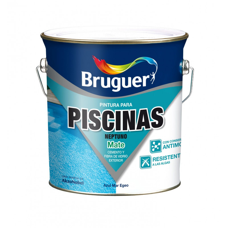 Comprar pintura piscinas caucho acrilico neptuno azul mar for Piscina de acrilico
