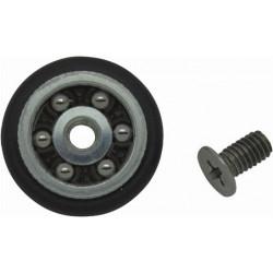 Rueda Con Rodamiento Mampara 20mm Negro (c/tornillo) 24pz