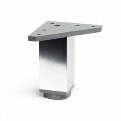 Pata Aluminio Cuadrada 40x40x100 Cromo Brillo